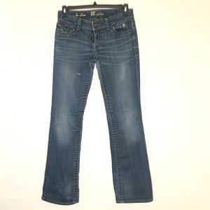 KUT from the Kloth So Low Sz 6 Distressed Jeans